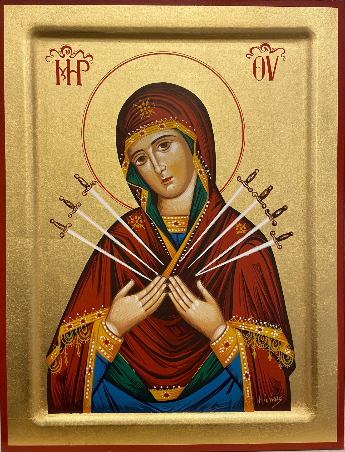 The Virgin Mary with Seven Swords / Παναγία Επτά Σπαθιά