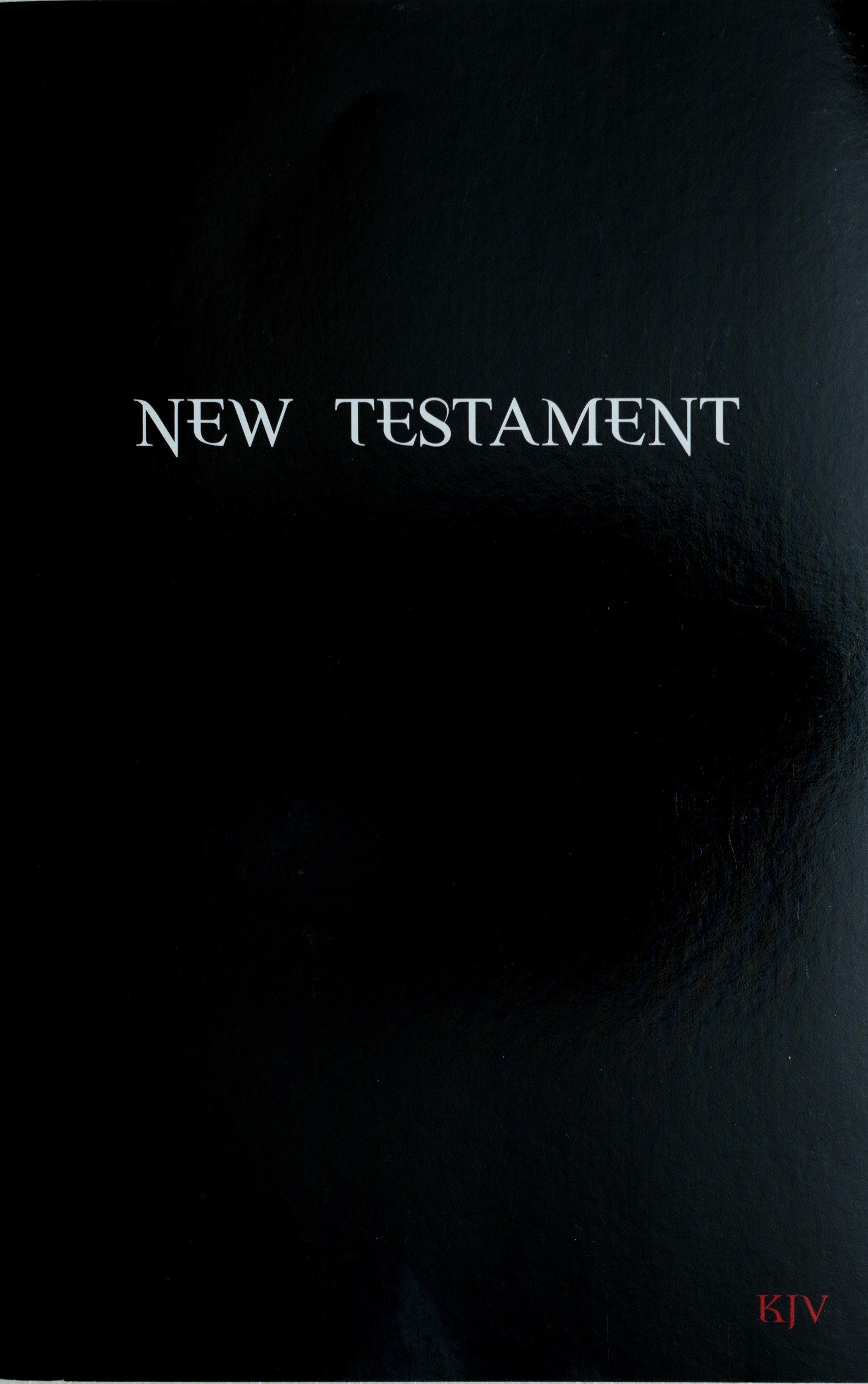 New Testament KJV      OUT OF STOCK