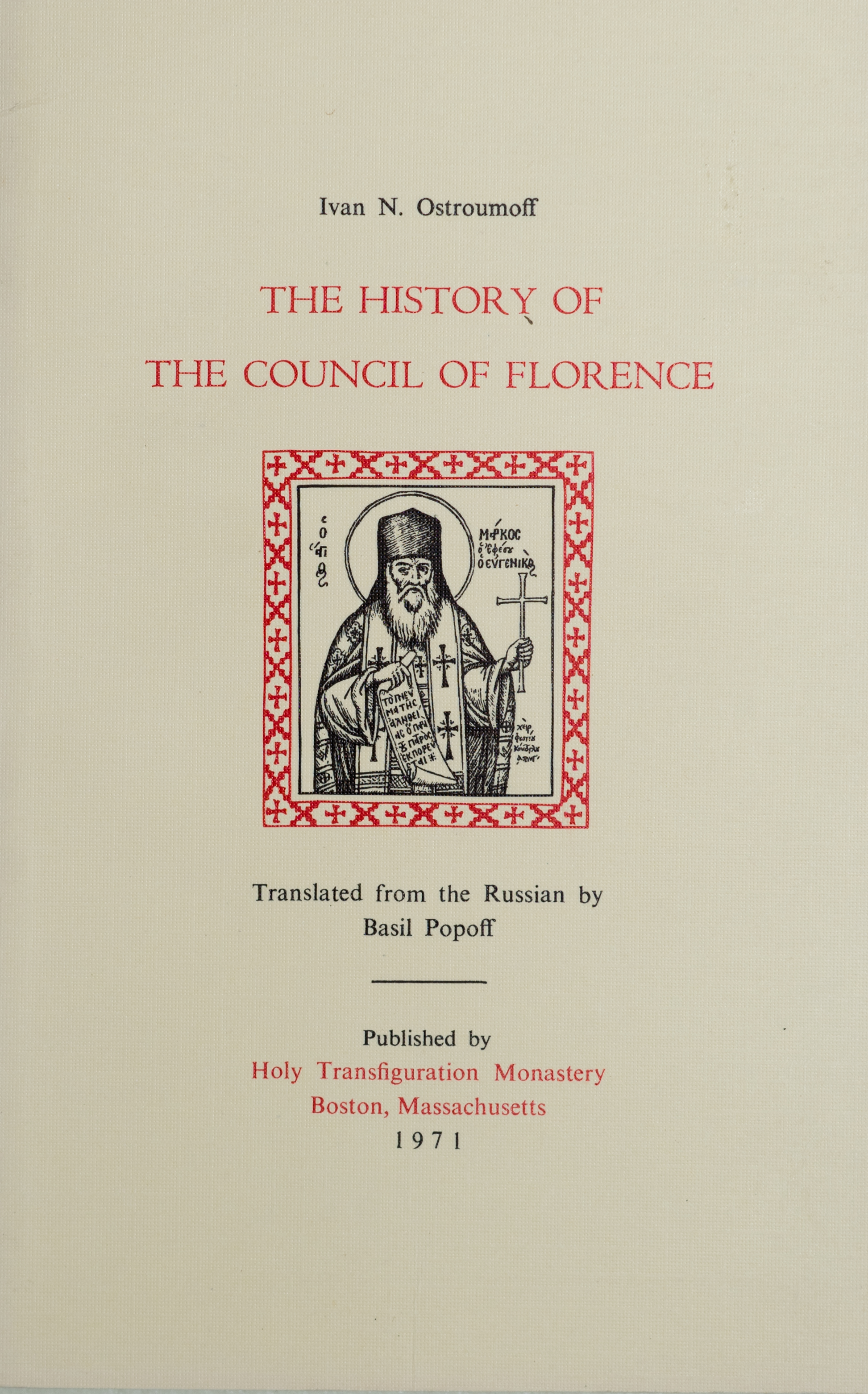 The History of the Council of Florence