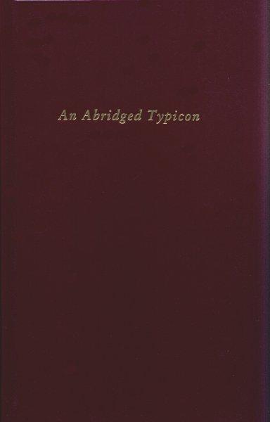 An Abridged Typicon