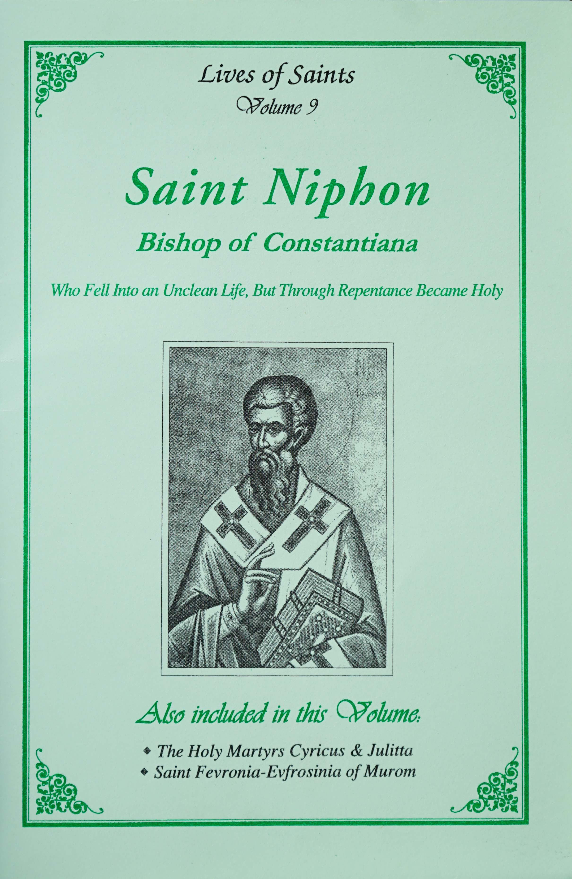 Lives of Saints Vol. 09: Saint Niphon, Bishop of Constantiana