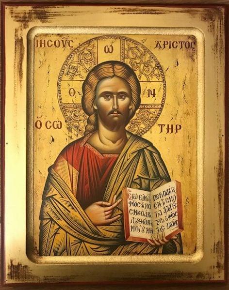 Jesus Christ, the Saviour     Ιησούς Χριστός ο Σωτήρ         Isous Hristos o Sotir